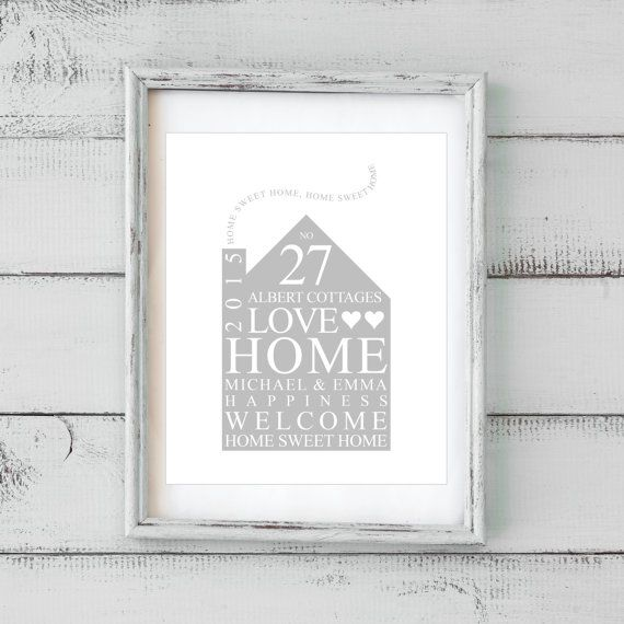 2cc97ec59ebe Personalised Family Print   New Home Gift Typography Bespoke Art (Frame Not  Included) This