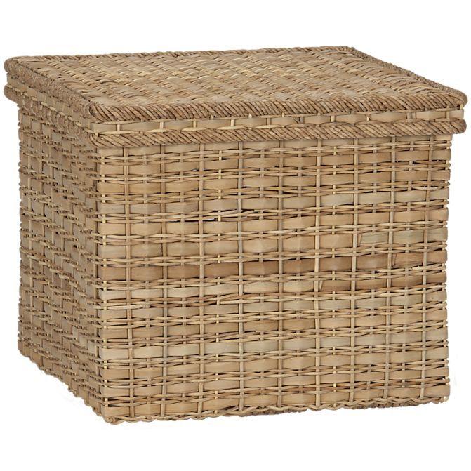 Palma Square Lidded Baskets Home Decor Baskets Basket And Crate Lidded Baskets