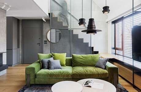 Apartment  by hush architects inspiration house design interior living room green also rh pinterest