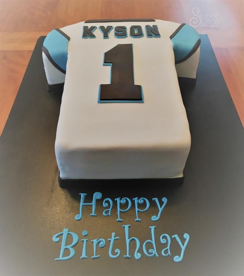 Panthers 1st bday Cake by Sweet Scene Cakes firstbirthdaycake