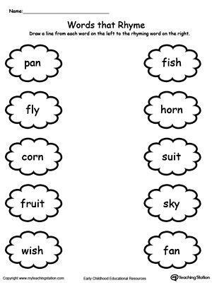 Printables Rhyming Words Worksheets For Kindergarten 1000 images about rhyming worksheets on pinterest maze word families and thinking skills