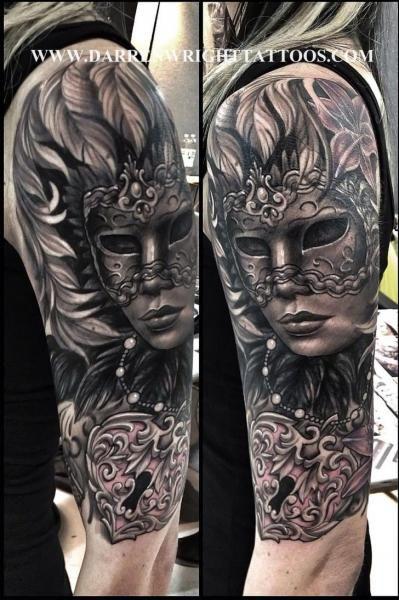 Axel Lås Mask Tattoo av Darren Wright tatueringar