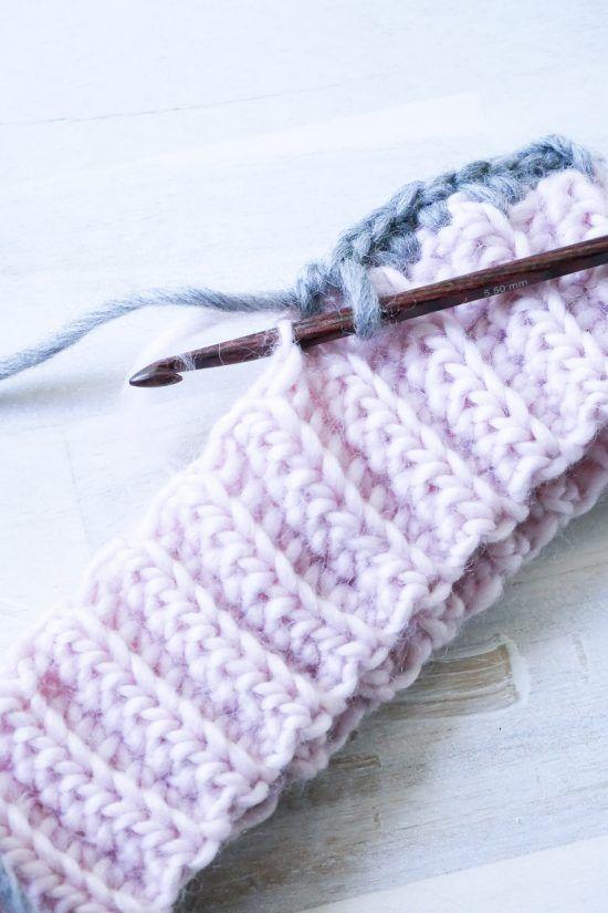 Häkelbündchen- so häkelst du ein elastisches Bündchen #strickenundnähen