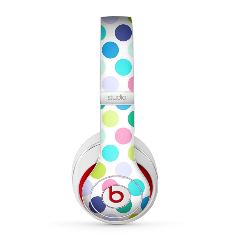 The Vibrant Colored Polka Dot V1 Skin for the Beats by Dre Studio (2013+ Version) Headphones