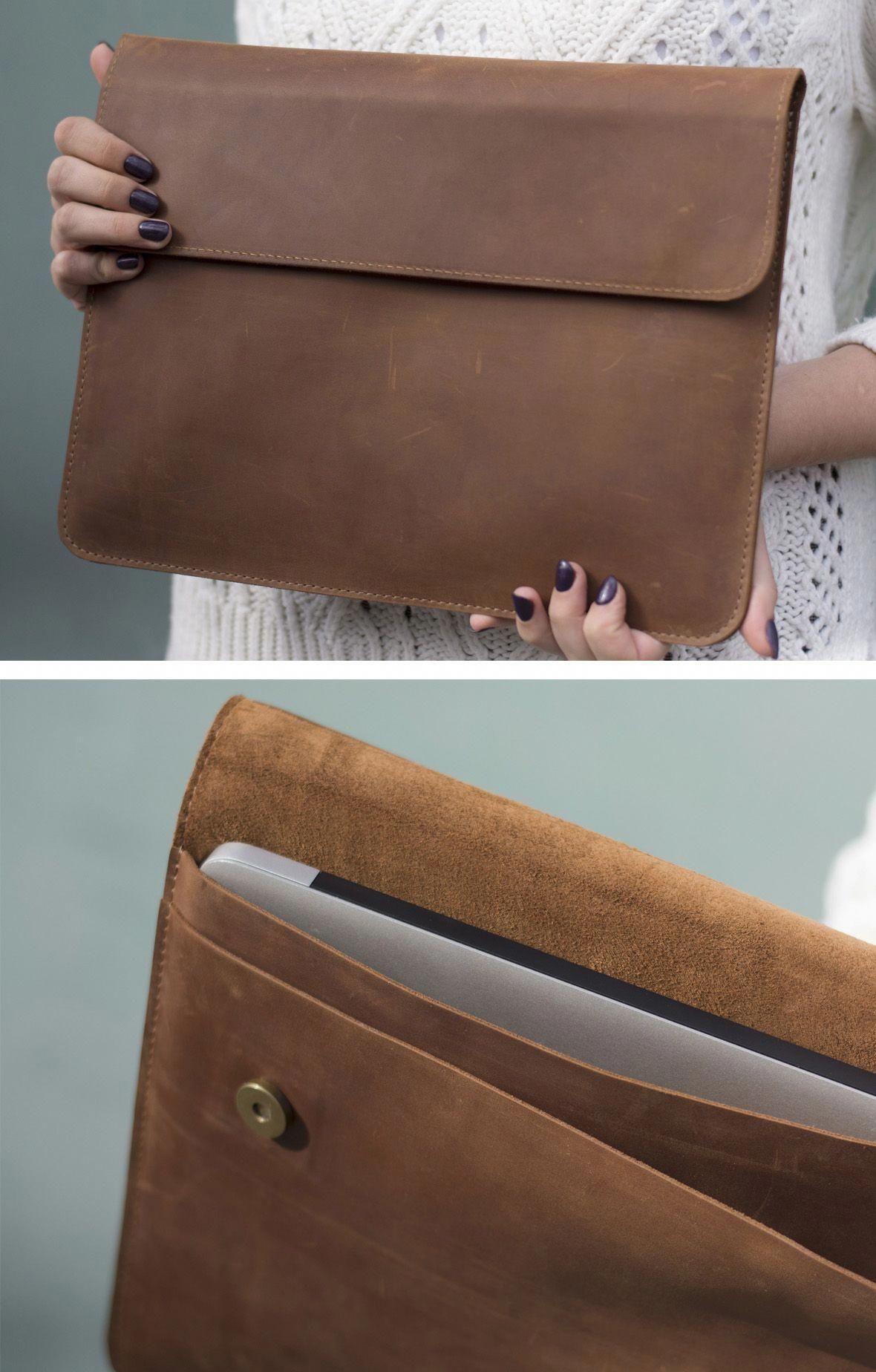 Apple Macbook Case Sleeve Holder Macbookpro Macbookair Protection Leather Organizer Lapt Bolso De Mano De Cuero Accesorios De Piel Carteras De Cuero