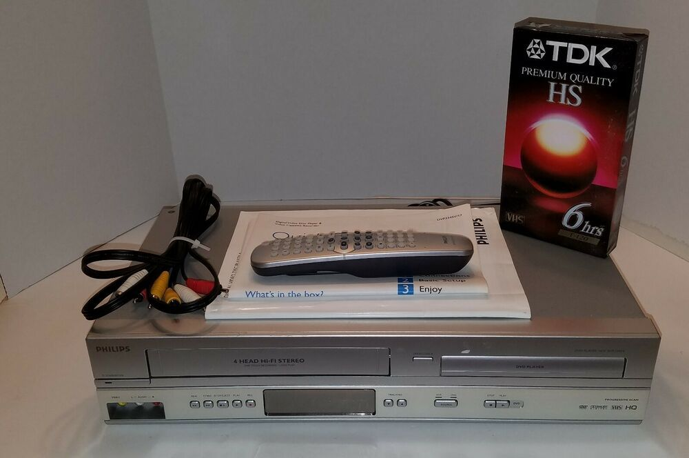 Phillips Dvd Vcr Combo 4 Head Hifi Stereo Player Dvp3345v 17 Remote Manuals Philips Stereo Player Dvd Vcr Hifi Stereo