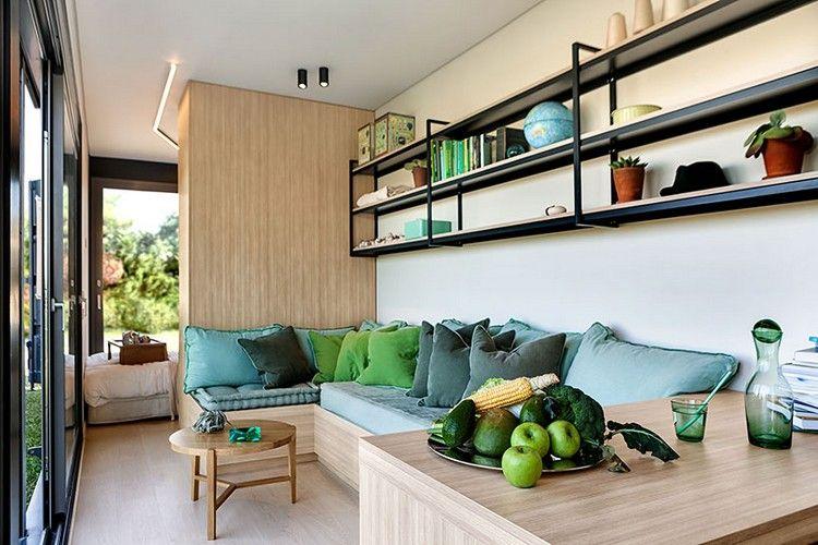 wohnzimmer design containerhaus modern hell #modern #house