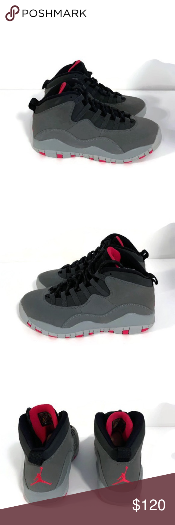 8d04483a9d95 Nike Air Jordan 10 Retro Grey   Pink Brand new in box 7Y - Women s ...