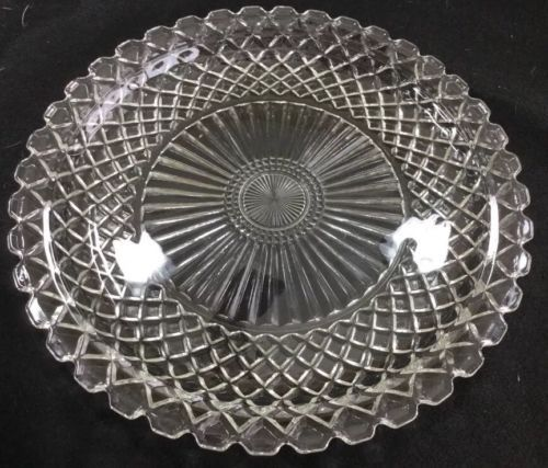 Anchor Hocking Wexford Extra Large Serving Platter Clear Glass Vintage Clear Glass Crystal Glassware Vintage Cake Plates
