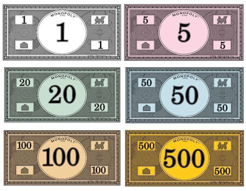 Where to print your own Monopoly money Monopoly money
