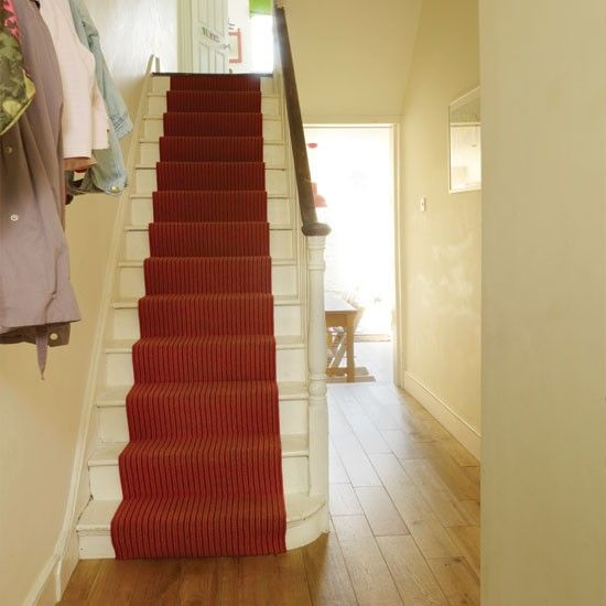 Pictures of Stairs with Runners | stair runner a colourful stair runner livens up the painted stairs ...