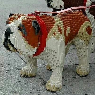 English Bulldog Lego Legos Lego Dog Lego Animals Lego Sculptures