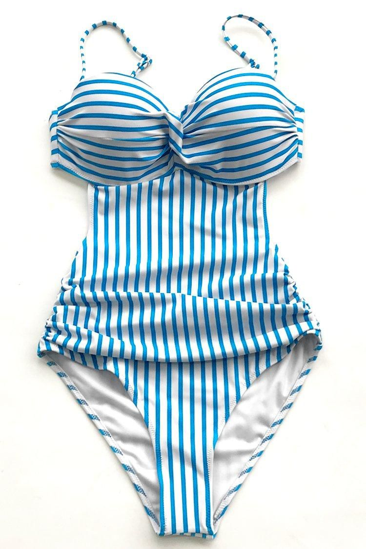 eef8d771af #EnvyWe #CupShe - #CUPSHE Blue And White Stripe One-piece Swimsuit -  EnvyWe.com