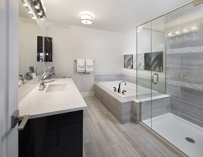 This is the ensuite bathroom in the Ruby townhome model in ...
