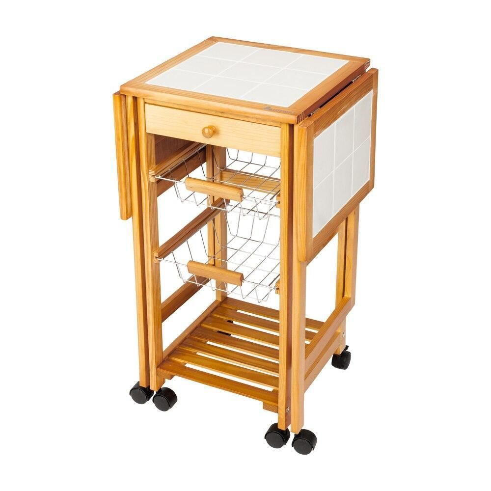 Drop Leaf Cart Portable Rolling Kitchen Storage Trolley Island Sapele Smart Compact Designed Quick Kitchen Storage Trolley Kitchen Storage Kitchen Roll