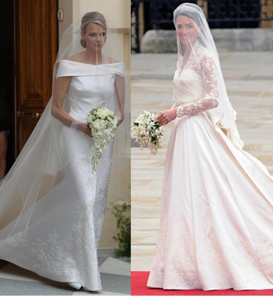 Princess of Monaco & Kate Middleton\'s Wedding Dress   Celebrity ...