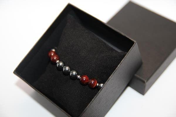 Hematite & Red Tiger Eye Gemstone Bracelet What do you think of this? #gemstone #gemstonebracelet #bracelet #mensbracelet #hematite #hematitebracelet #redtigereye #redtigereyebracelet