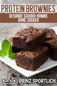 Protein Brownies: Gesunde Schoko-Bombe ohne Zucker