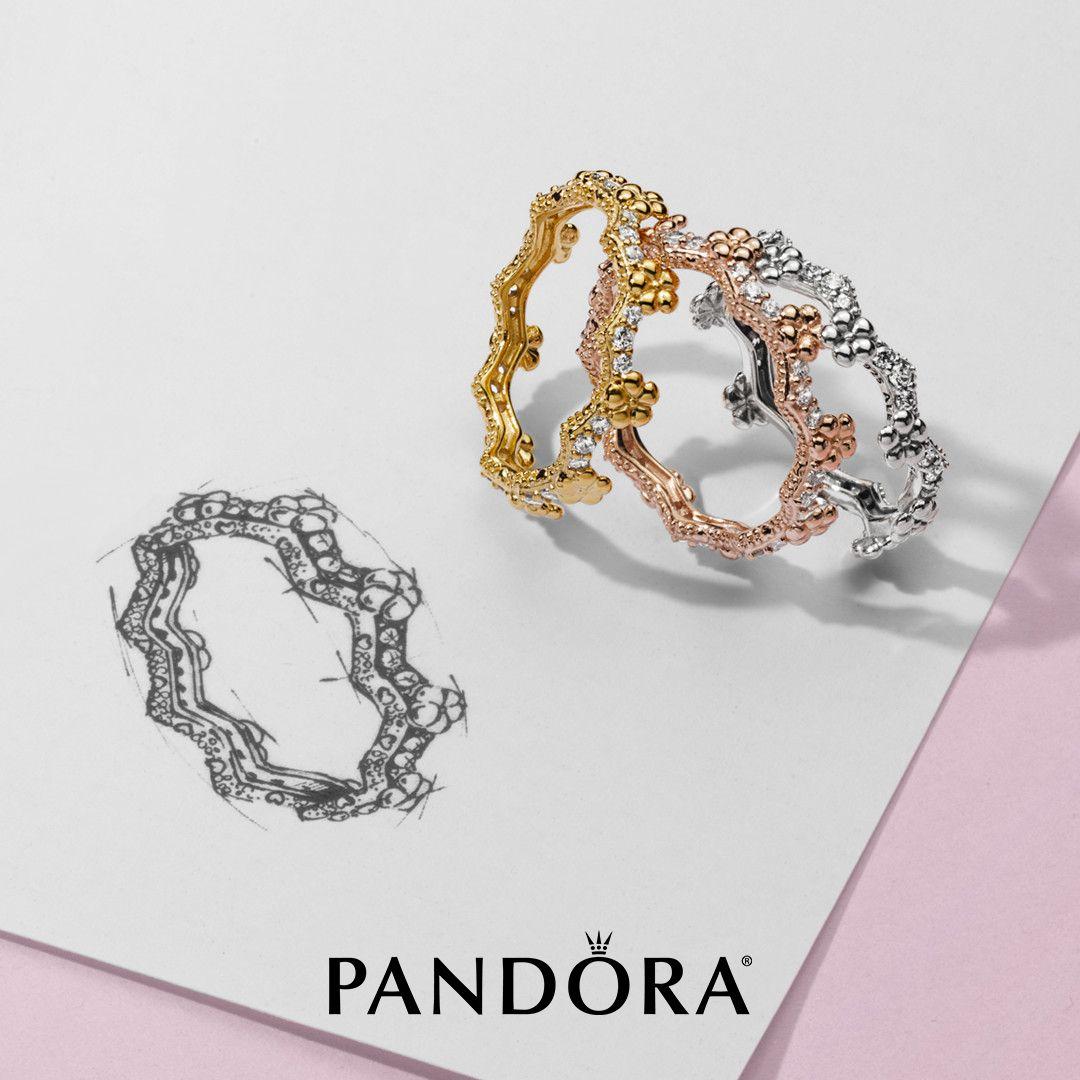 pandora ring rose perle