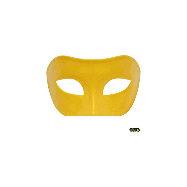 Yellow Venetian Masquerade Mask ($6.88) ❤ liked on Polyvore featuring masks and jewelry