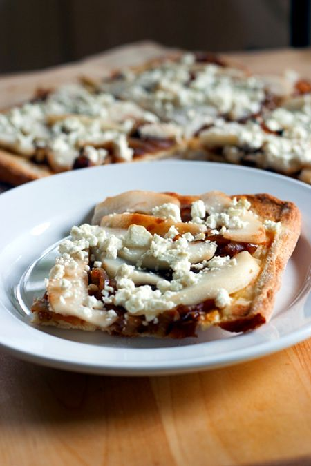 ... and Feta Flatbread | Yummy - Apps | Pinterest | Onions, Feta and Pears