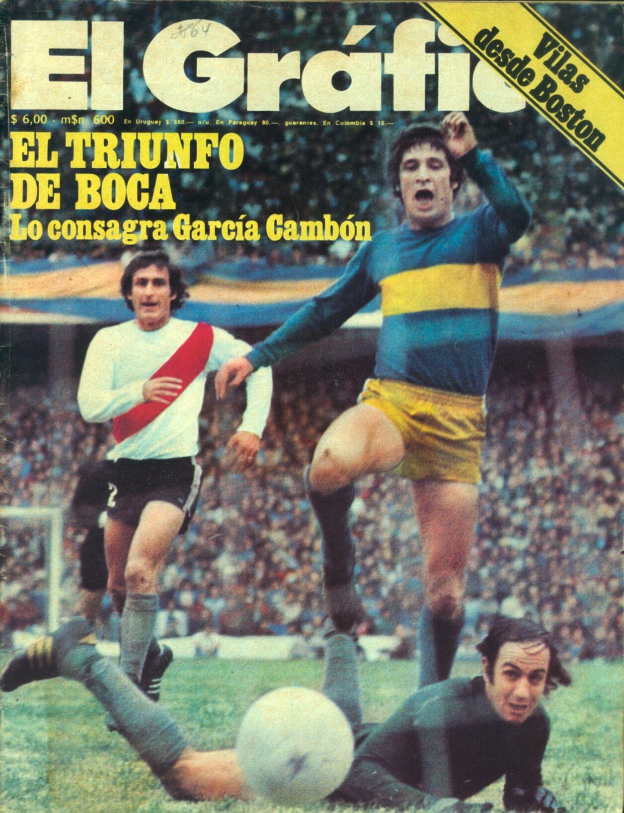 Boca Juniors - 1974 - 1 a 0 a riBer - García Cambón