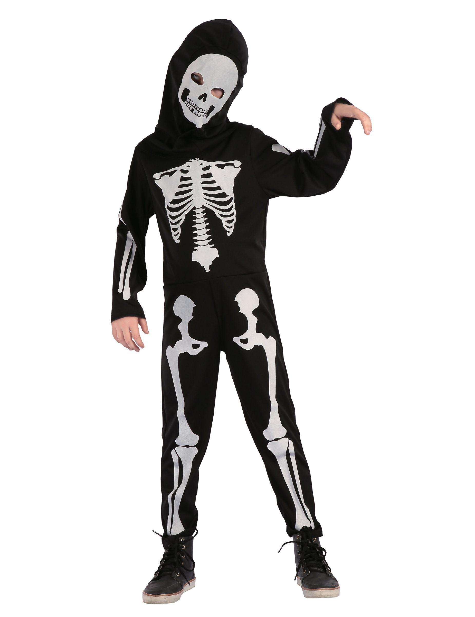 Costume scheletro articolato bambino  Questo costume da scheletro per  bambino è composto da una tuta 4985e27239f