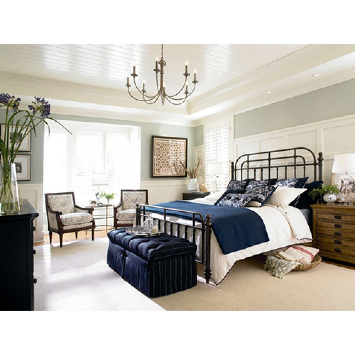 Thomasville Reinventions Pullman Metal King Bed Home