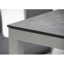 Photo of Stern Select extending table aluminum with table top Silverstar White Tundra Natur 160 / 210×90 cm Stern