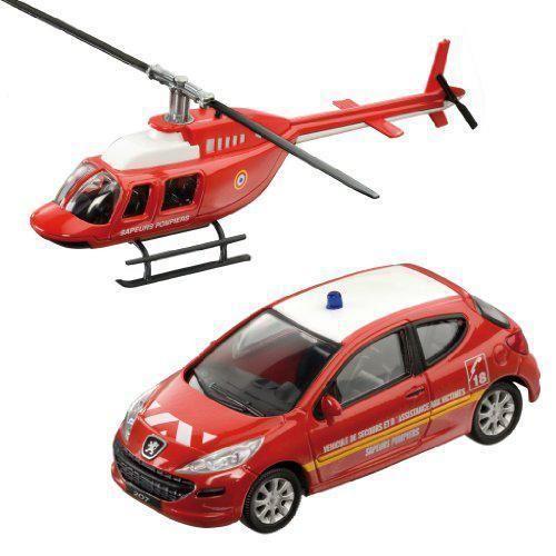 Peugeot V44Juguetes Miniature Ref 207Hélicoptère Voiture TuPkiOXZ