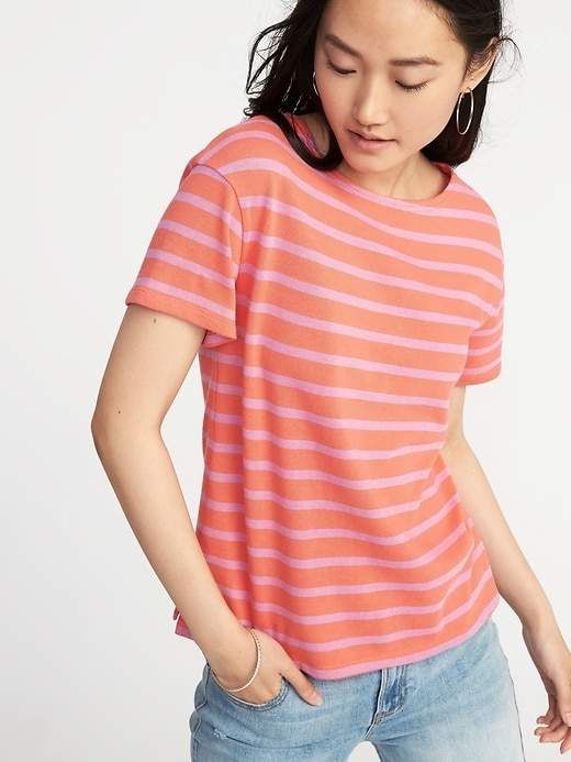 8f7e62afd64 Old Navy Relaxed Mariner-Stripe Thick-Knit Tee for Women