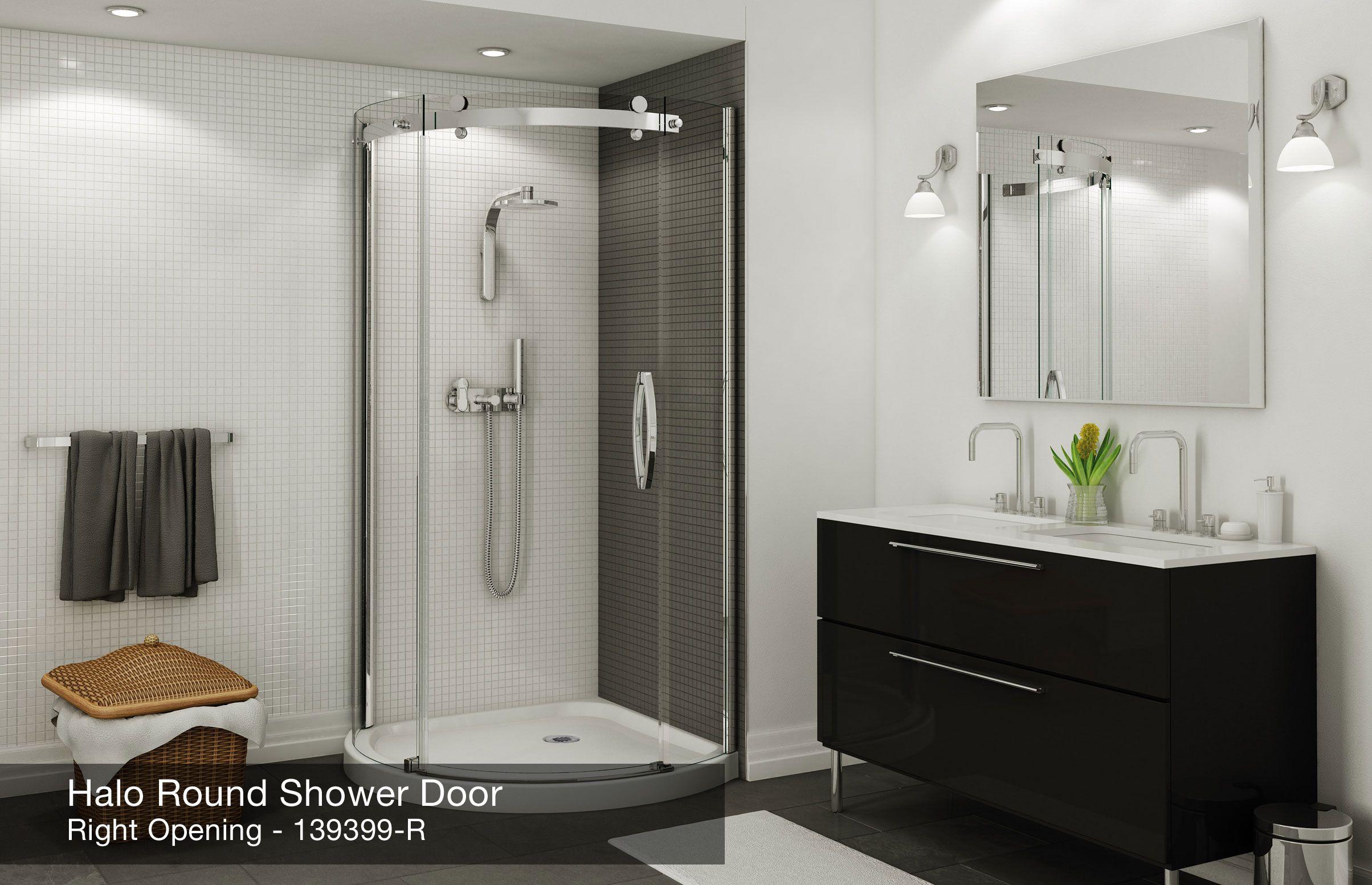 Halo Round Corner Shower Door - MAAX | Douches en céramique ...