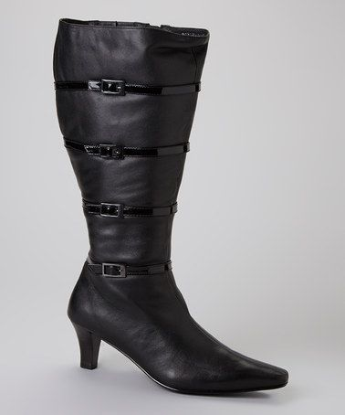 Take a look at this Black Walker Extra Wide Shaft Boot by Ros Hommerson on #zulily today!
