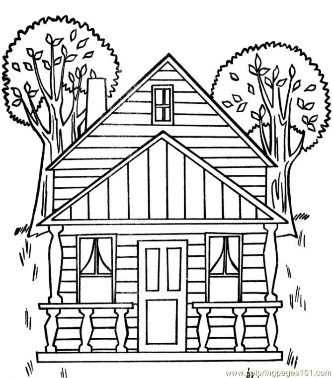 Tree house coloring page for kids and adults from architectures coloring pages houses coloring pages