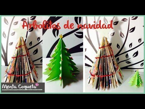 Como hacer Arboles de navidad con papel y revista ❅ - YouTube