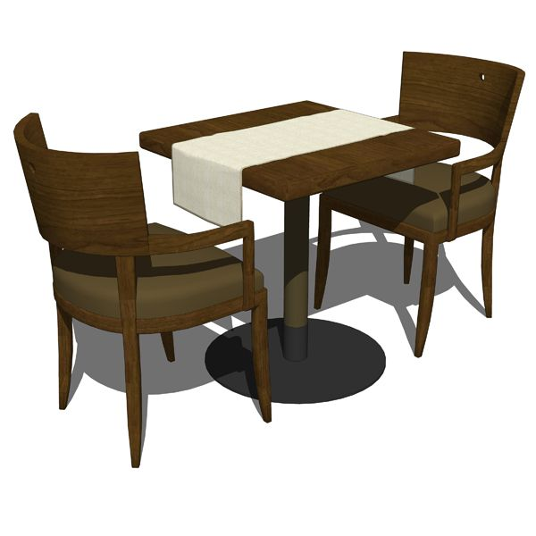 Commercial Dining Room Chairs Pleasing Dining Table W Chairs  Revit Models  Pinterest  Dining Design Ideas