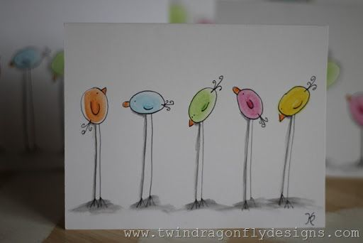 Watercolor Pencil Easter Chicks Tutorial Watercolor Cards