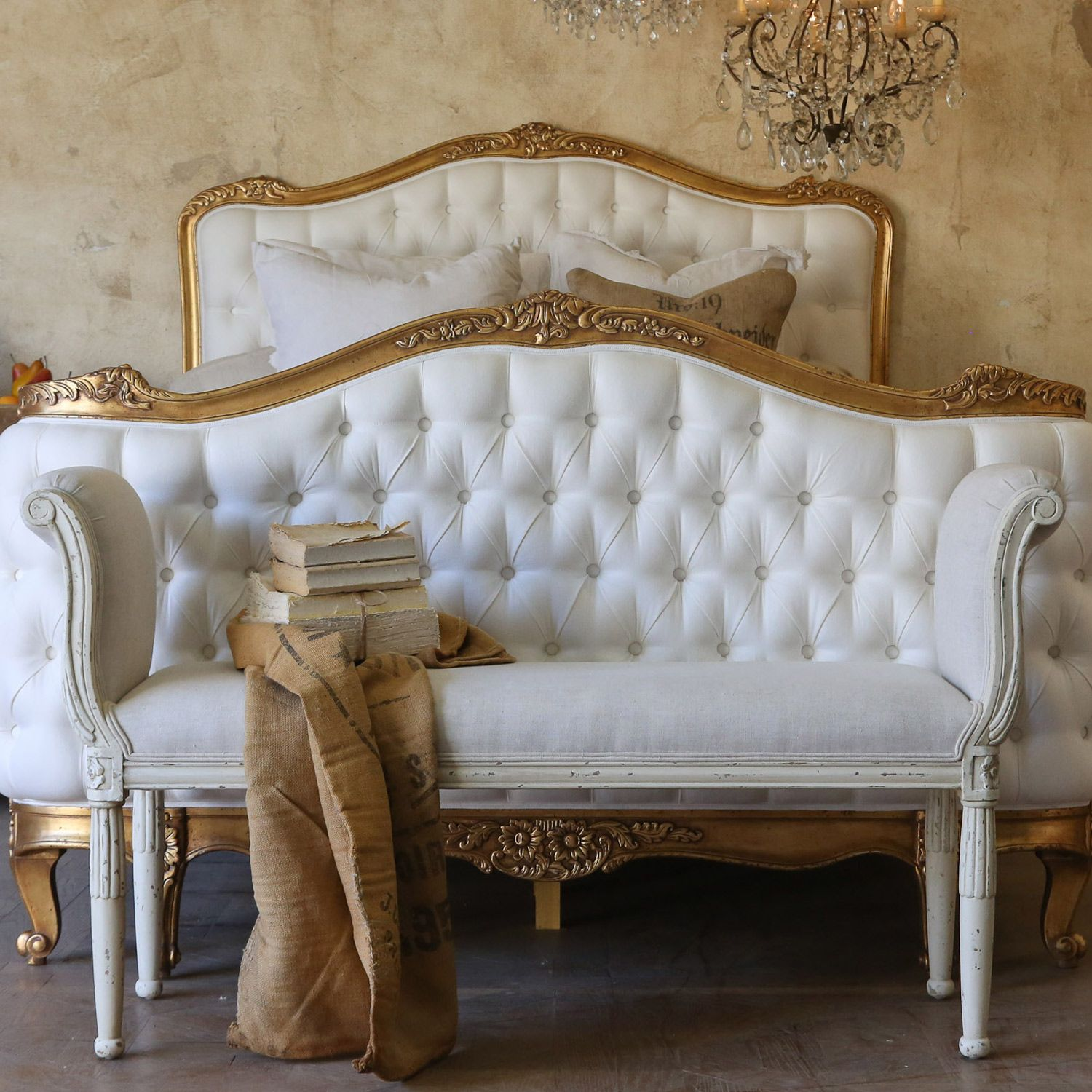 Best Eloquence Mademoiselle Antique White Bench Layla Grayce 400 x 300