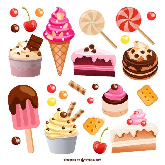 Baixe Conjunto Food Gratuitamente Cupcake Drawing Sweets Food