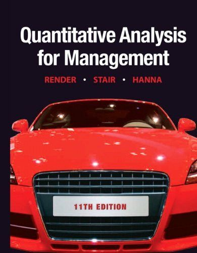 Quantitative Analysis For Management Th Edition  Management