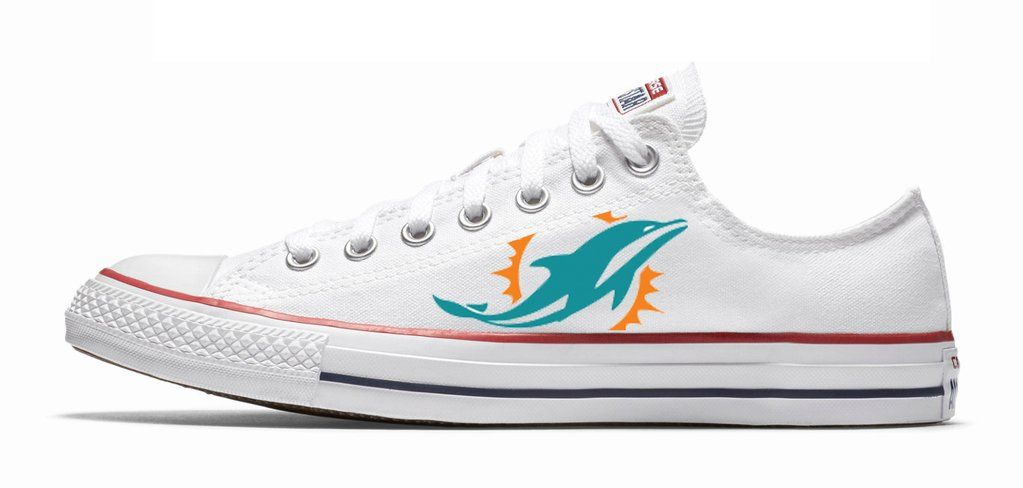 Customized Miami Dolphins Converse