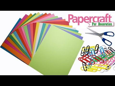 3 Amazing Craft Idea With Color Paper Paper Craft For Home
