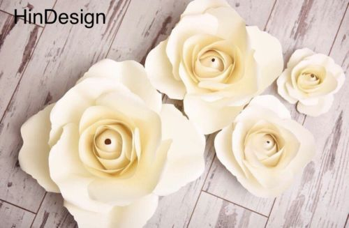 Flower embellishments 160734 1 set of 4 paper flowers for baby flower embellishments 160734 1 set of 4 paper flowers for baby nursery backdrop birthday party wedding decor buy it now only 4999 on ebay mightylinksfo