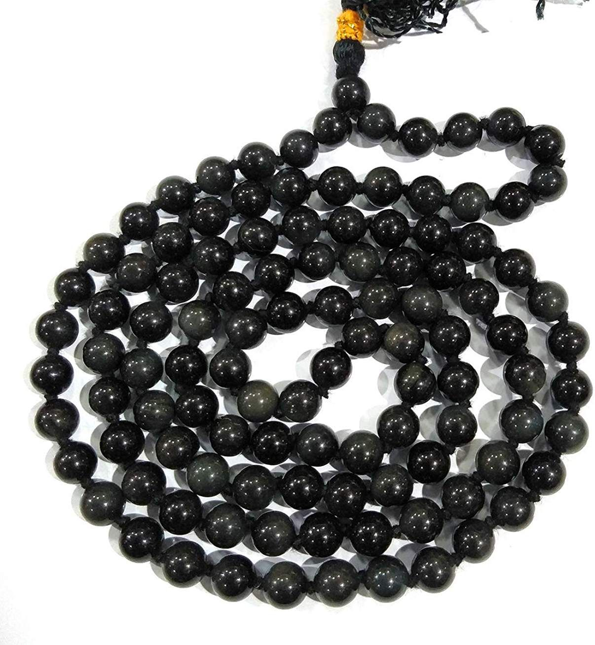 Reiki Crystal Products Natural Black Tourmaline Mala 6mm for Reiki Healing and Vastu Correction Protection Concentration Spirituality and Increasing Creativity