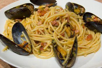 Spaghetti con Amatriciana di Cozze