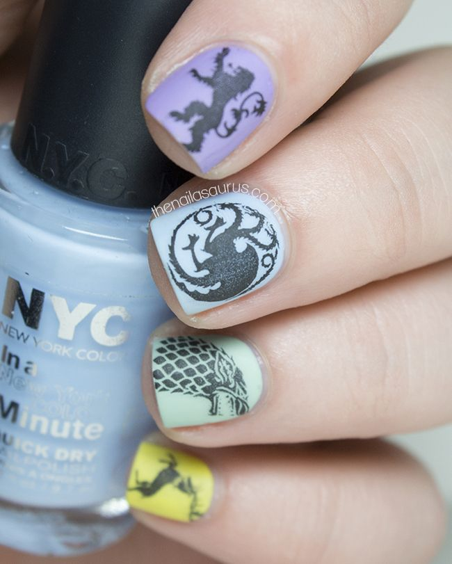 Game of Thrones Nail Art | Nail Art | Pinterest | Gaming, Crazy ...