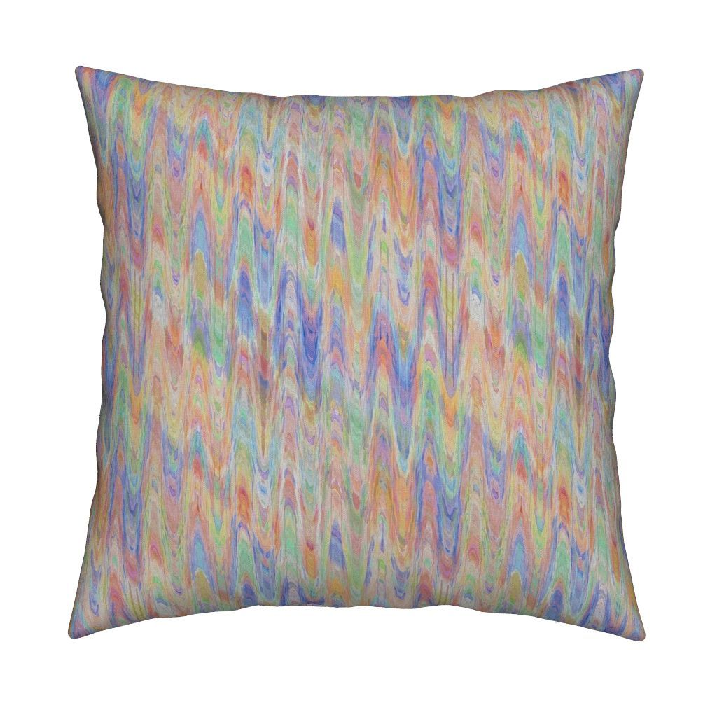 Catalan Throw Pillow Featuring Watercolor Marbled Paper Orange C Periwinkle Blue By Paysmage Roostery Home