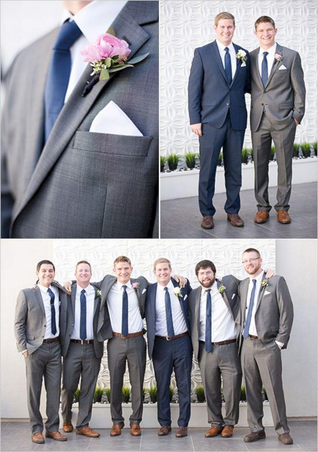 35 Best Groomsmen Navy And Grey For Beautiful Wedding Ideas ...