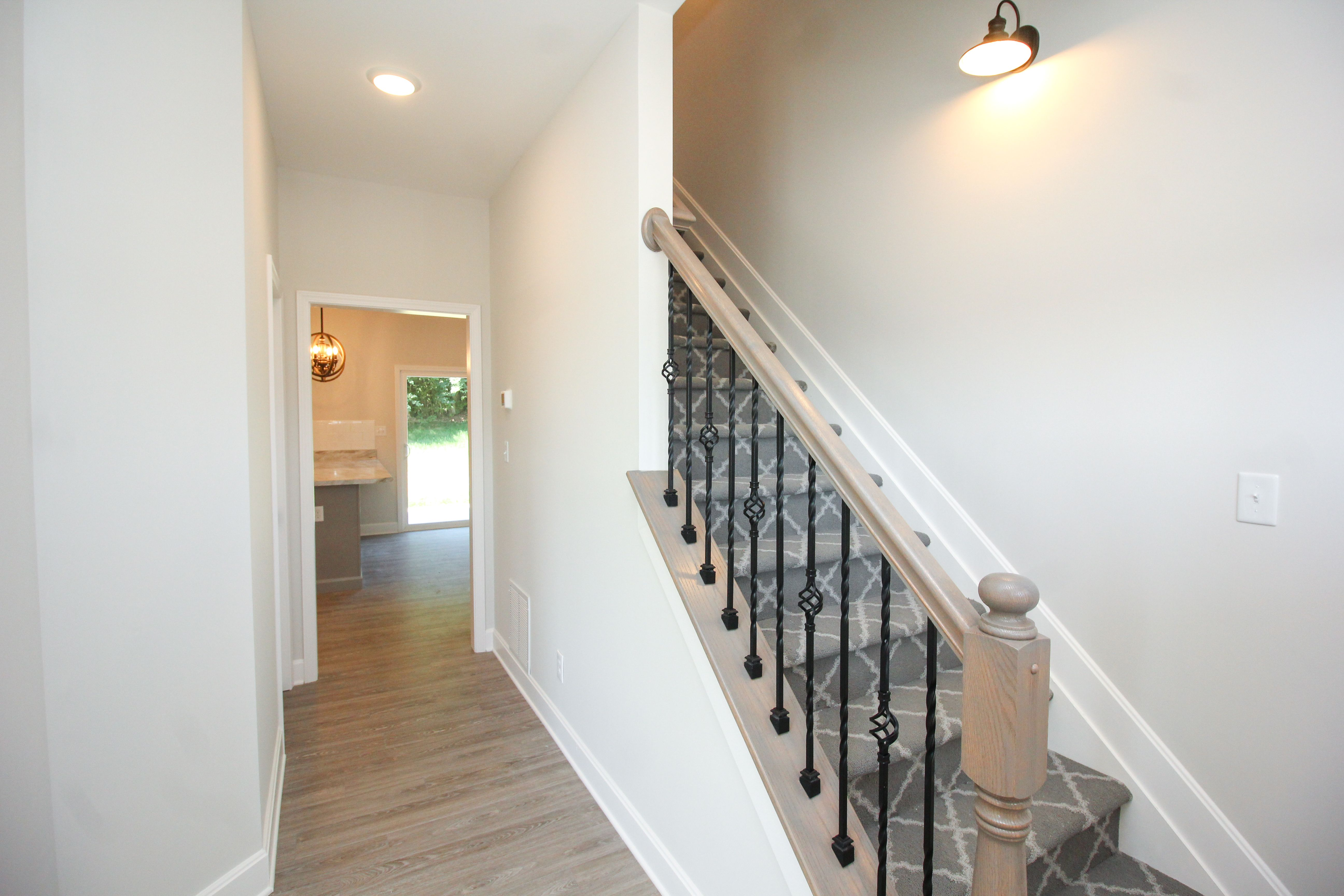 Patterned stair carpet is our favorite. The pattern helps ...