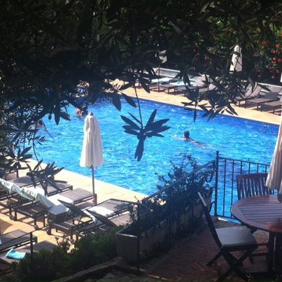 Such a blue pool!! Hotel Aiguablava, Begur, Cala Fornells, Costa
